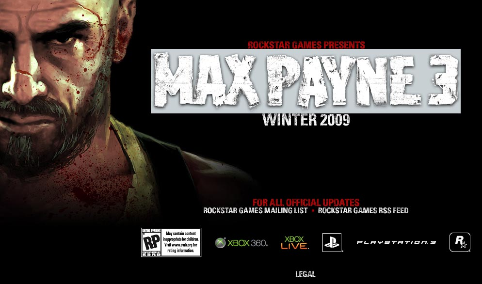 Rockstar Games Announces Max Payne 3 for Winter 2009
